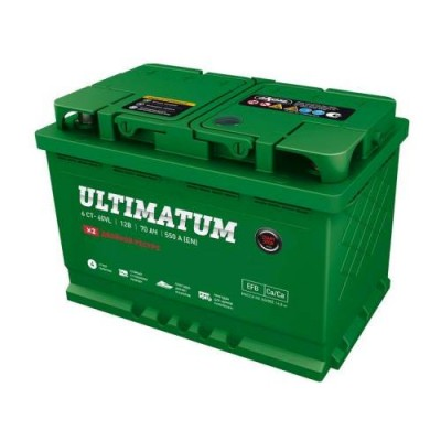ULTIMATUM EFB START-STOP AKUMULATOR 12V 70AH D