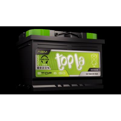 TOPLA AGM STOP & GO TAG70 AKUMULATOR 12V 70Ah D